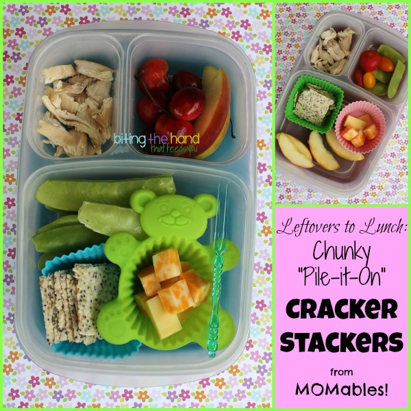 Leftovers to Lunch: Chunky Cracker Stackers from MOMables! - Biting the Hand That Feeds You