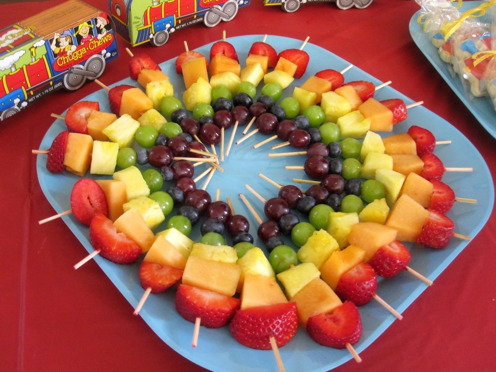 rainbow of fruit kabobbies