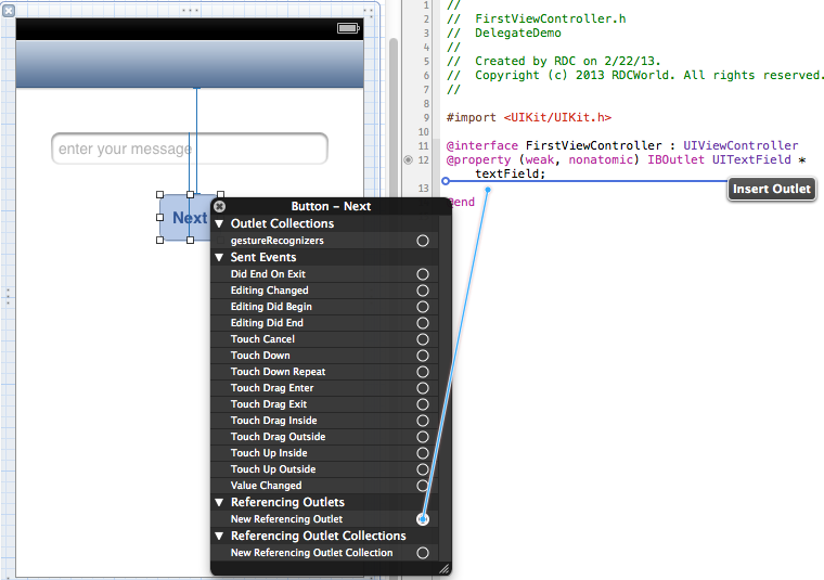 xcode swift how to connect touch up inside
