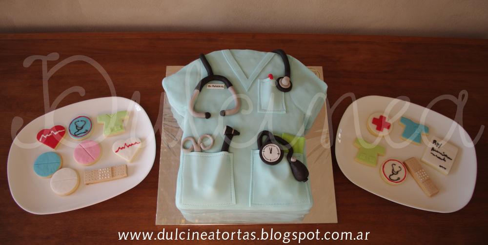 Dulcinea Tortas y demás dulzuras: Torta chaqueta médico