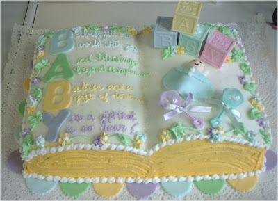 A book like baby shower cake