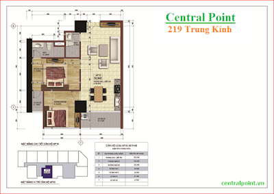 Căn hộ số 10 chung cư Central Point  - diện tích 69,9m2.