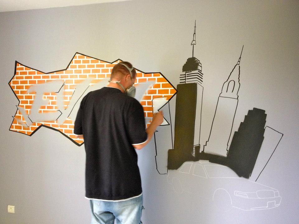 D coration graff int rieur d co ext rieur d co chambre d for Interieur new york