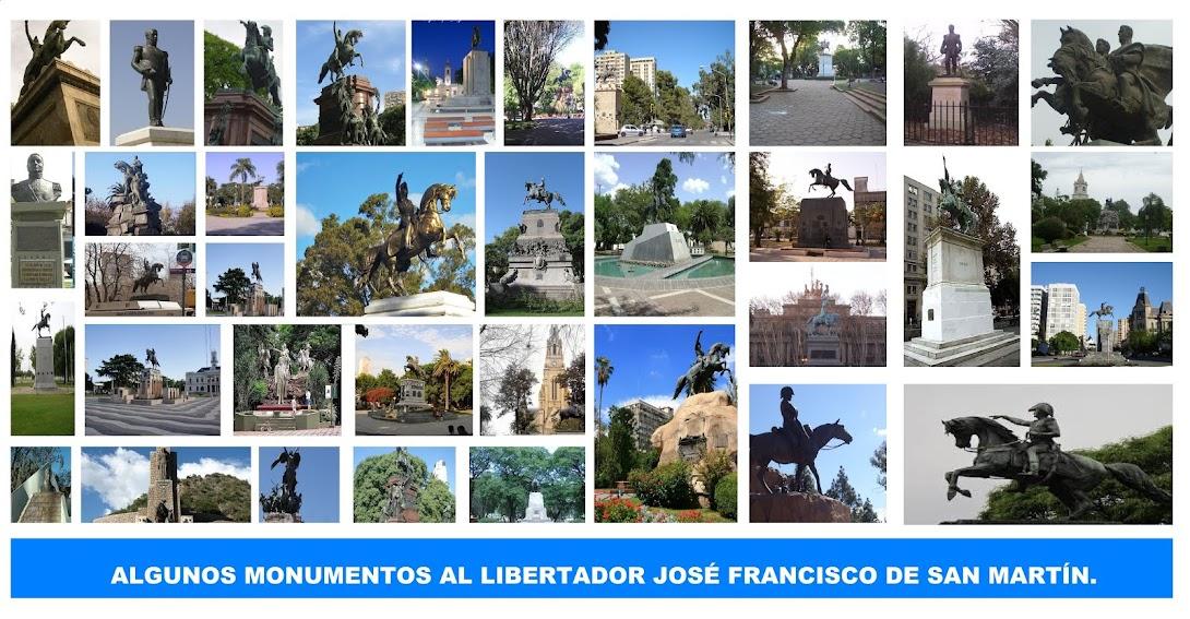 MONUMENTOS AL GRAL. JOSÉ DE SAN MARTÍN.