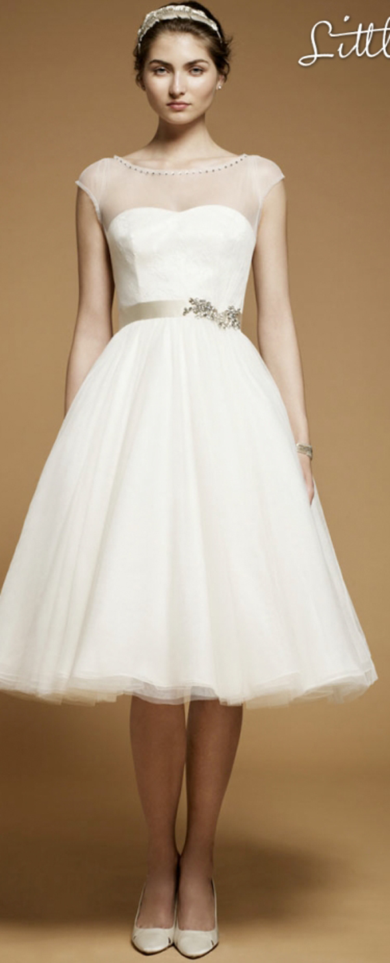 Modern Wedding Invitation: Chic White Short Wedding Dress Designs 2012