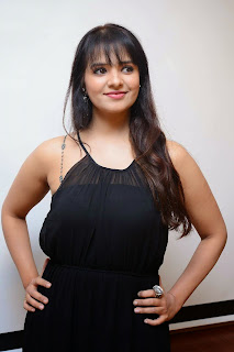 Actress Saloni Aswani Picture Gallery in Black Long Dress at (GAMA) Gulf Andhra Music Awards 2014 Press Meet  10