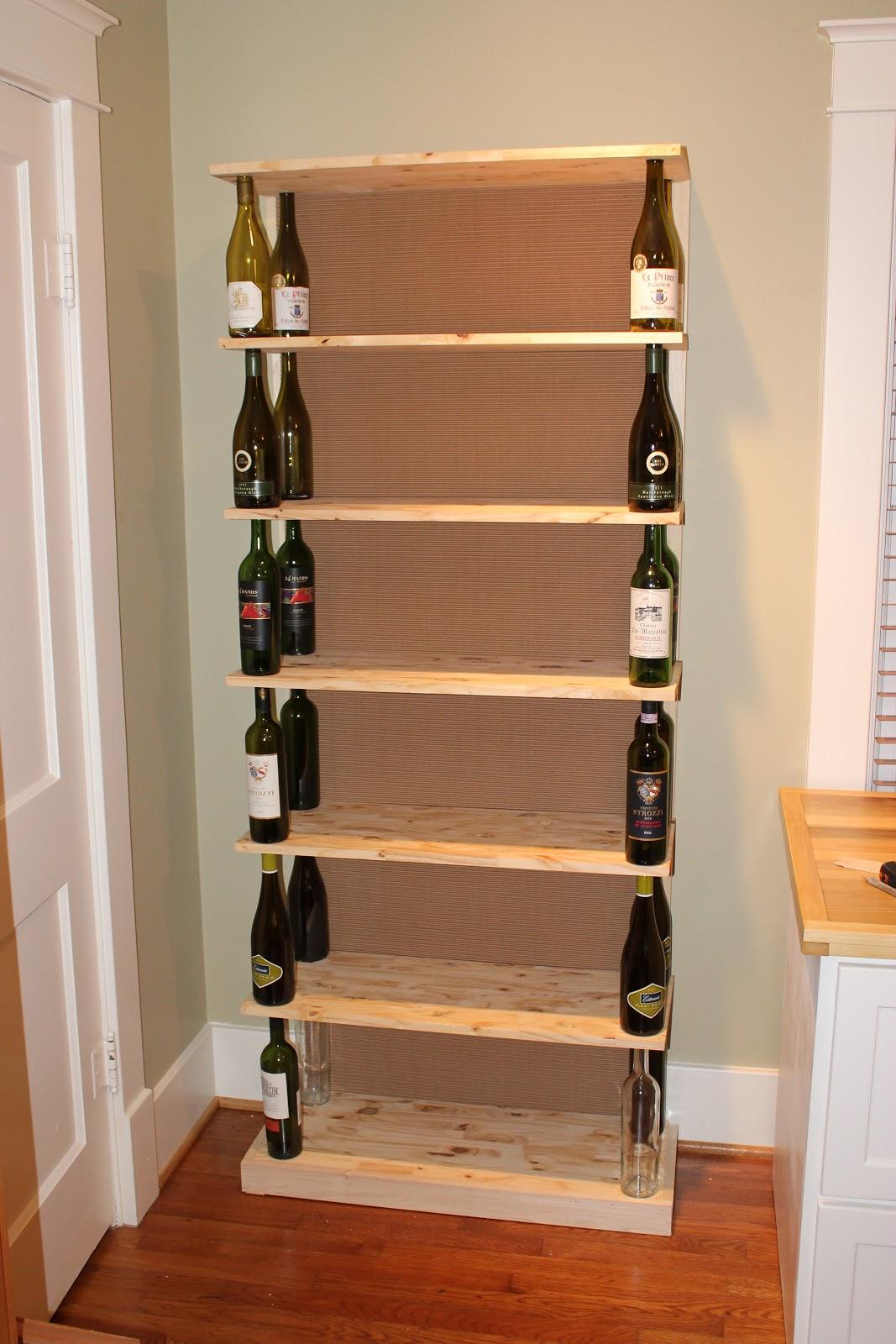 The fabulous blog of miss ginger grant wine bottle bookshelf for Wine bottle shelf diy