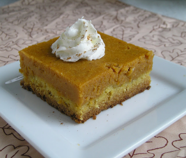 Pumpkin Gooey Butter Cake ~ Edesia's Notebook