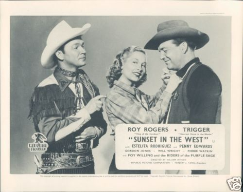 Roy Rogers Sunset In The West