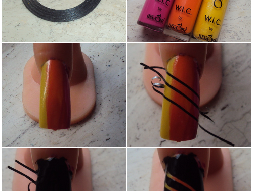 Foto nail-art tutorial.