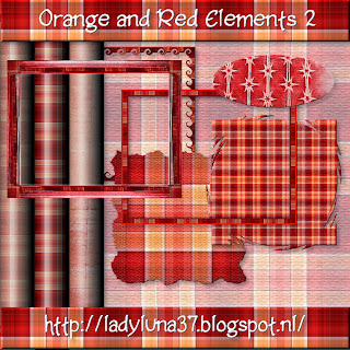 Freebie: Orange Red Elements 2: Frames, Tags and Papers