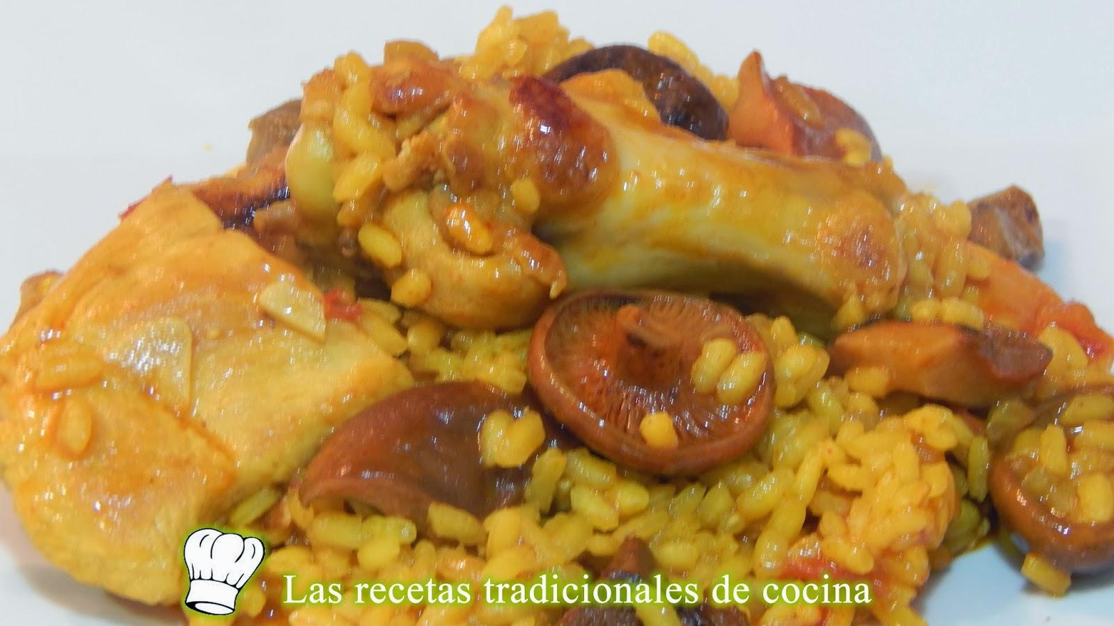 Arroz Caldoso Con Setas Y Pollo receta simple de arroz con pollo y setas - recetas de cocina con