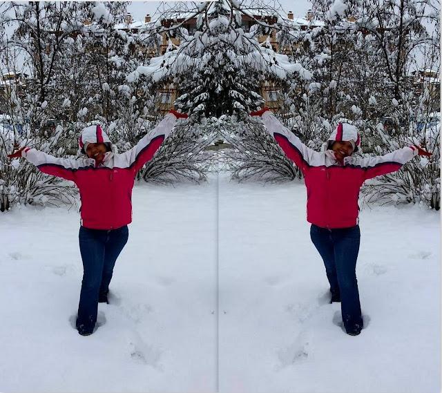 Fun in the snow in Bitola