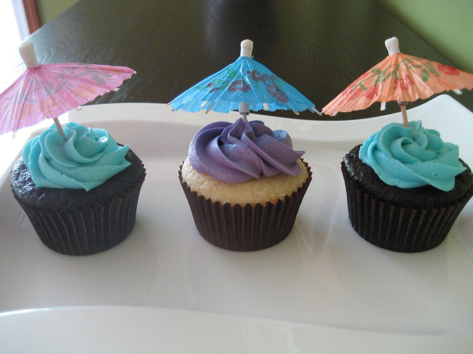 by meg Aloha Beach Wedding Shower Cupcakes