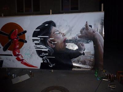Streetart, Urbanart, Graffiti, Life-Painting