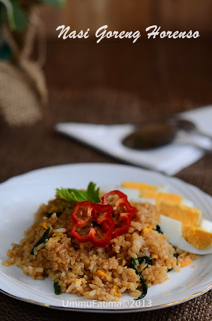 nasi goreng horenso (bayam jepang)