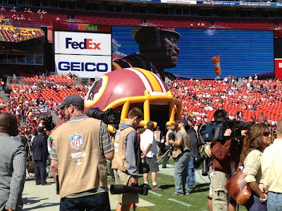 Washington Redskins run onto field during introductions