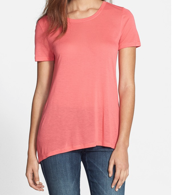 Halogen High/Low Seamed Back Tee