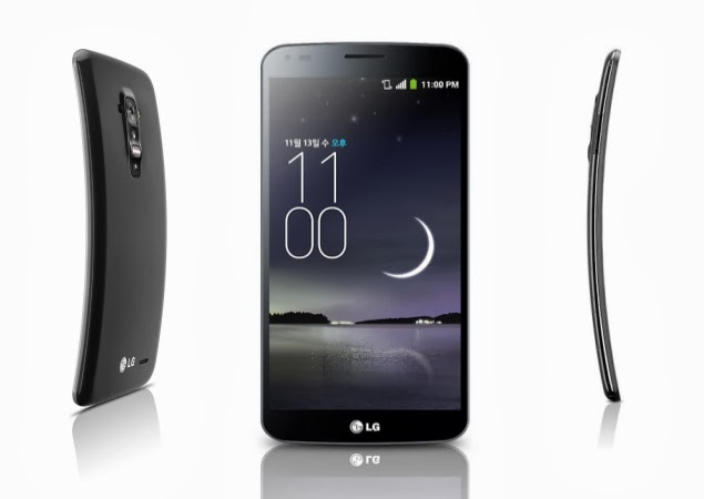 LG G Flex Avrupa Ülkelerinde Şatışa Sunulacak