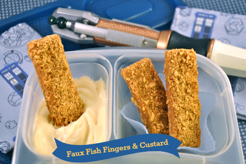 Faux fish fingers & custard