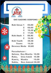 Jadwal Kebaktian GKI Gading Serpong