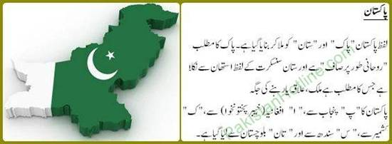 Origin of word Pakistan