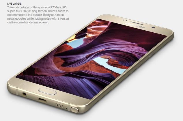 Samsung Galaxy Note 5 spesifikasi dan harga
