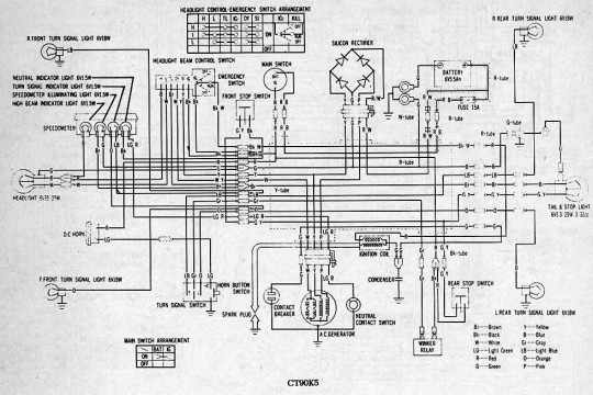 Honda+CT90+Motorcycle+Wiring+Diagram honda ct90 motorcycle wiring diagram all about wiring diagrams 1975 honda ct90 wiring diagram at panicattacktreatment.co