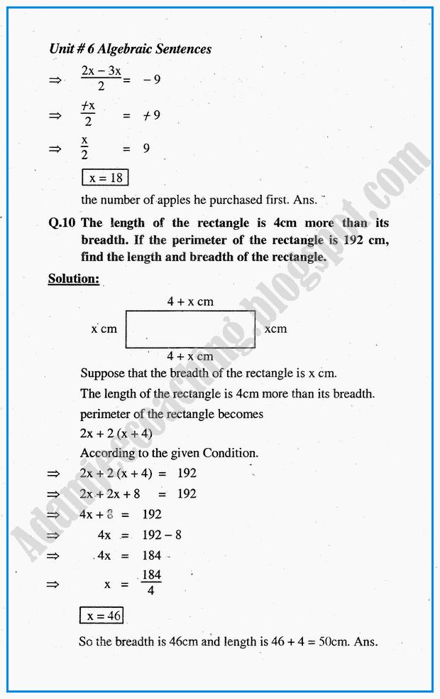 algebraic-sentences-exercise-6-1-mathematics-10th