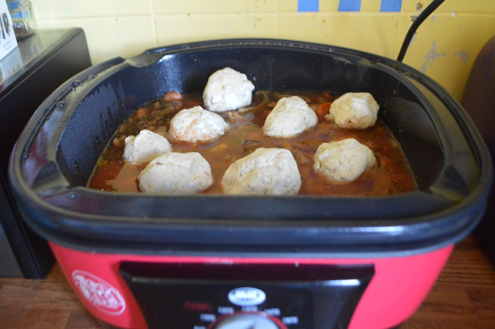 quorn and mushroom stew in the jml go chef 8 in 1 cooker