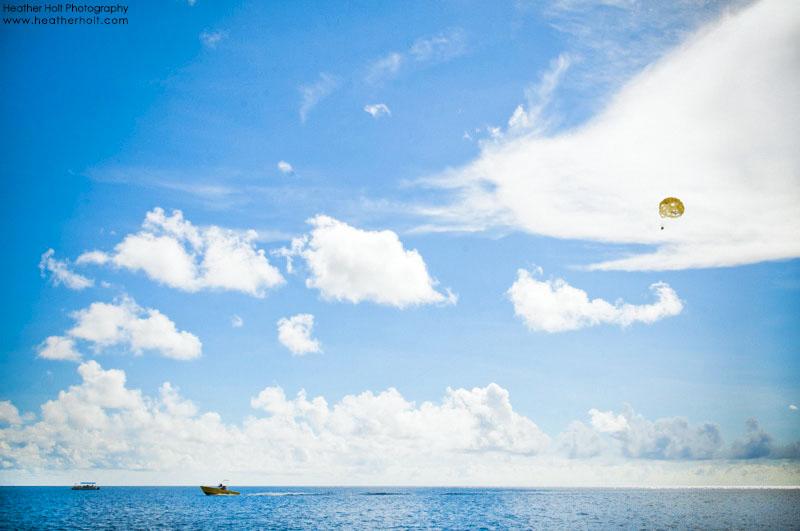 Blue Water Beach Parasailing Cayman Islands