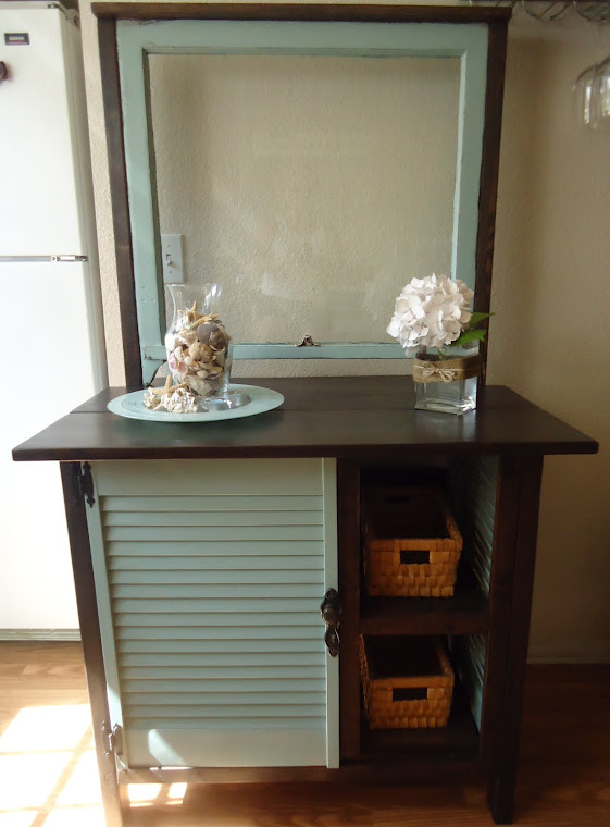 1920s Window Table/Cabinet with Vintage Hardware - SOLD