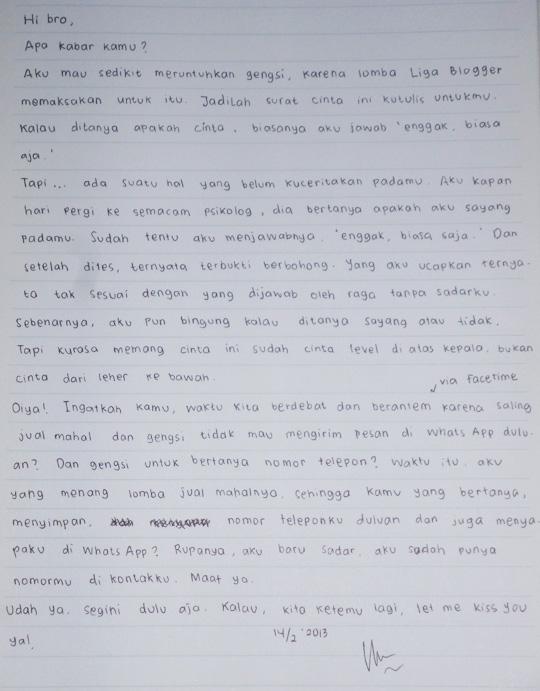 Una Vida Escrita De La Una Surat Cinta