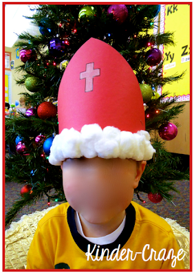 FREE craftivity to create a Miter hat like St. Nicholas had - this is TOO cute!
