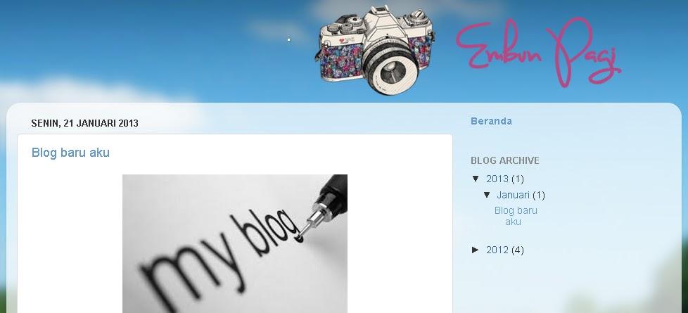Membuat header blog berada di tengah