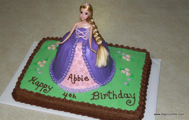 DigiCrumbs Rapunzel Birthday Cake featuring Disneys Tangled