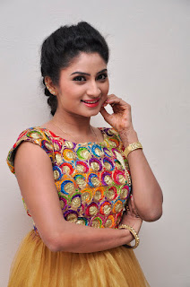 Vishnu Priya in lovely sleevelss Anarkali Dress at 21s Century Love Audio Launch