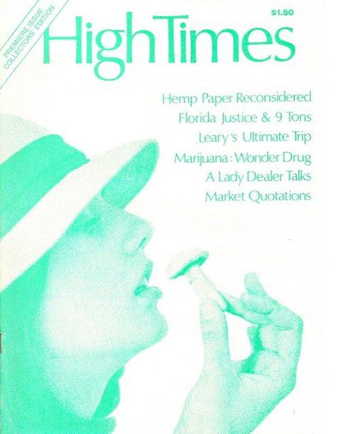 A Capa da primeira High Times.