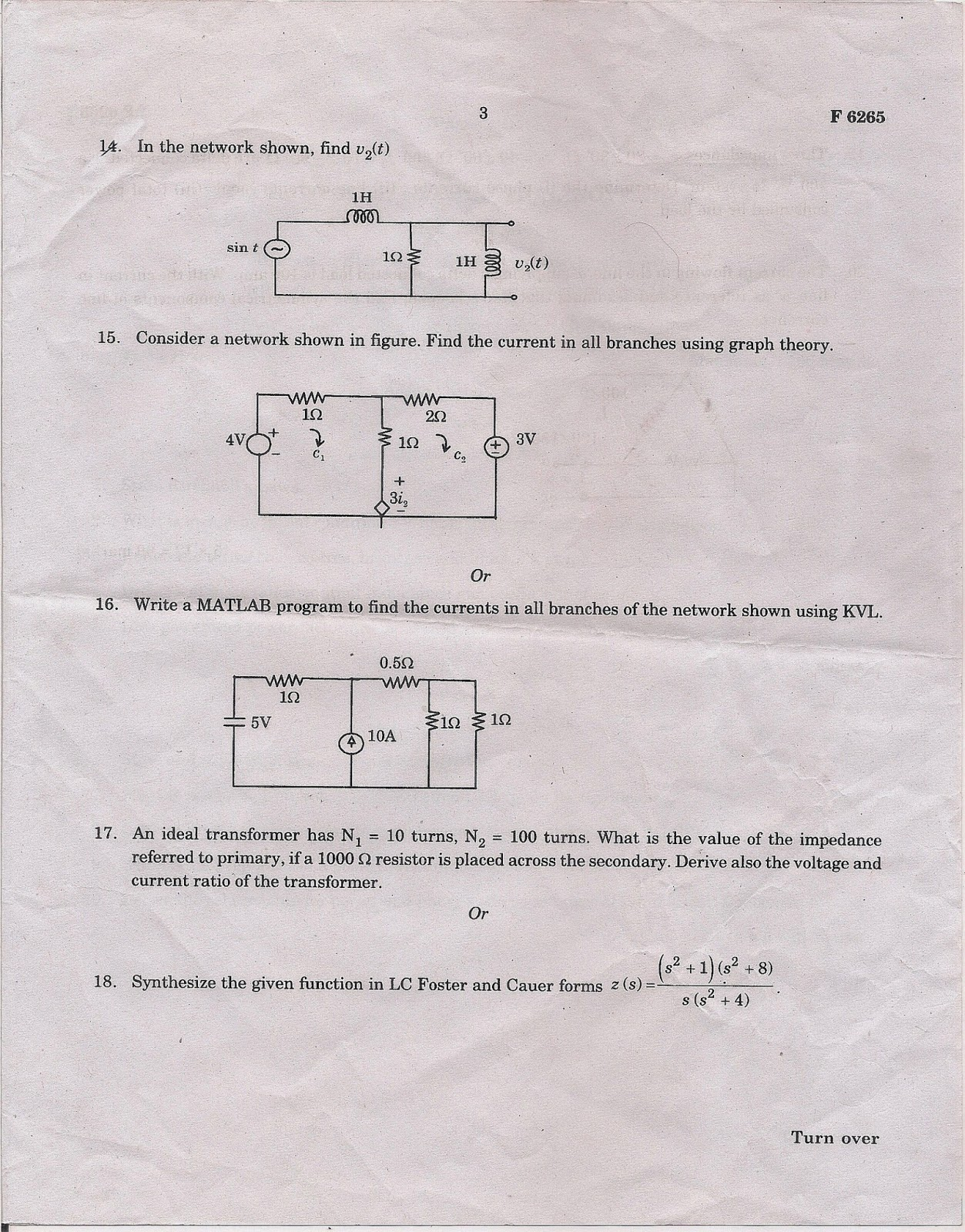 Mg University Question Papers Btech Eee Electrical Technology Pinterest Electric Circuit And Html Posted By Geoster16 At 1014