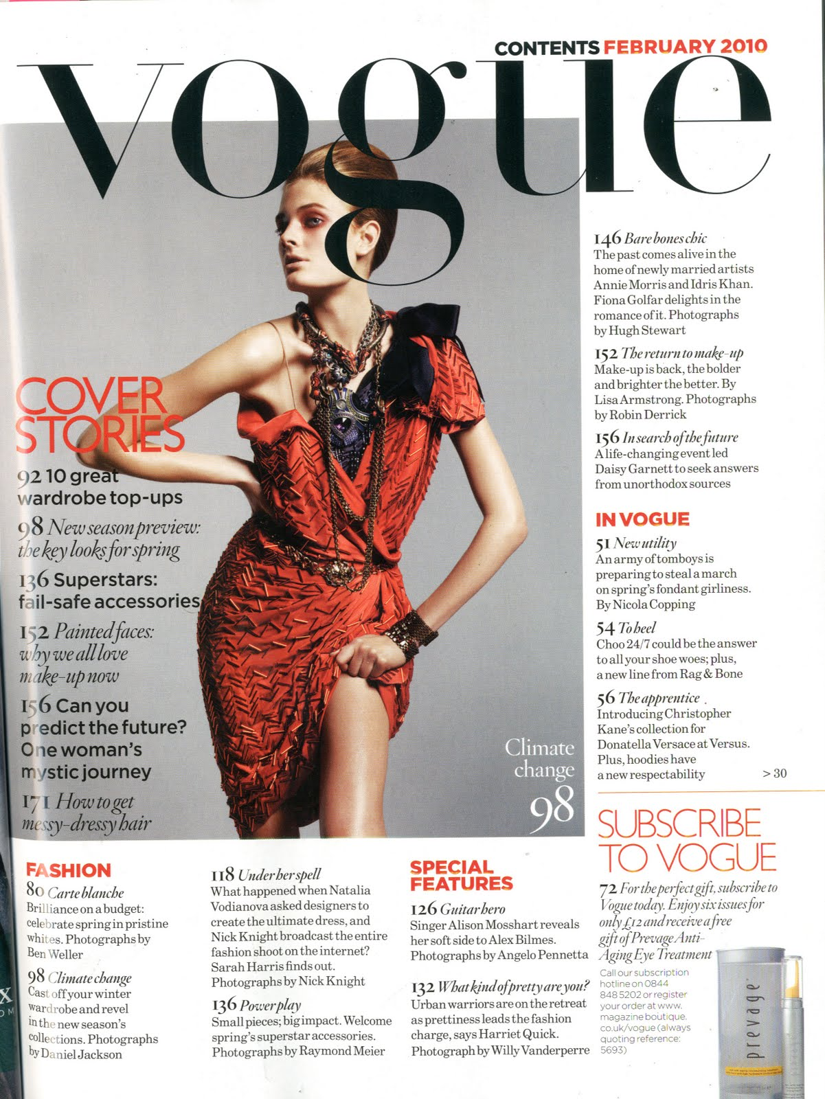 Nicole7128 Analysis Of Vogue 39 S Contents Page