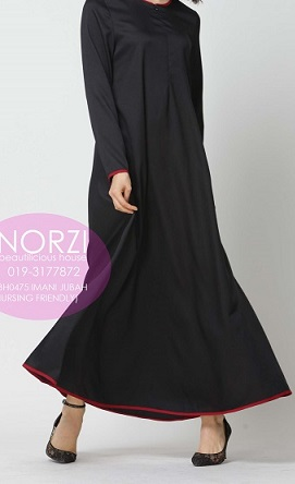 NBH0475 IMANI JUBAH (NURSING FRIENDLY)