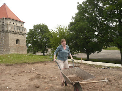 At Archaeological Excavation in Ukraine