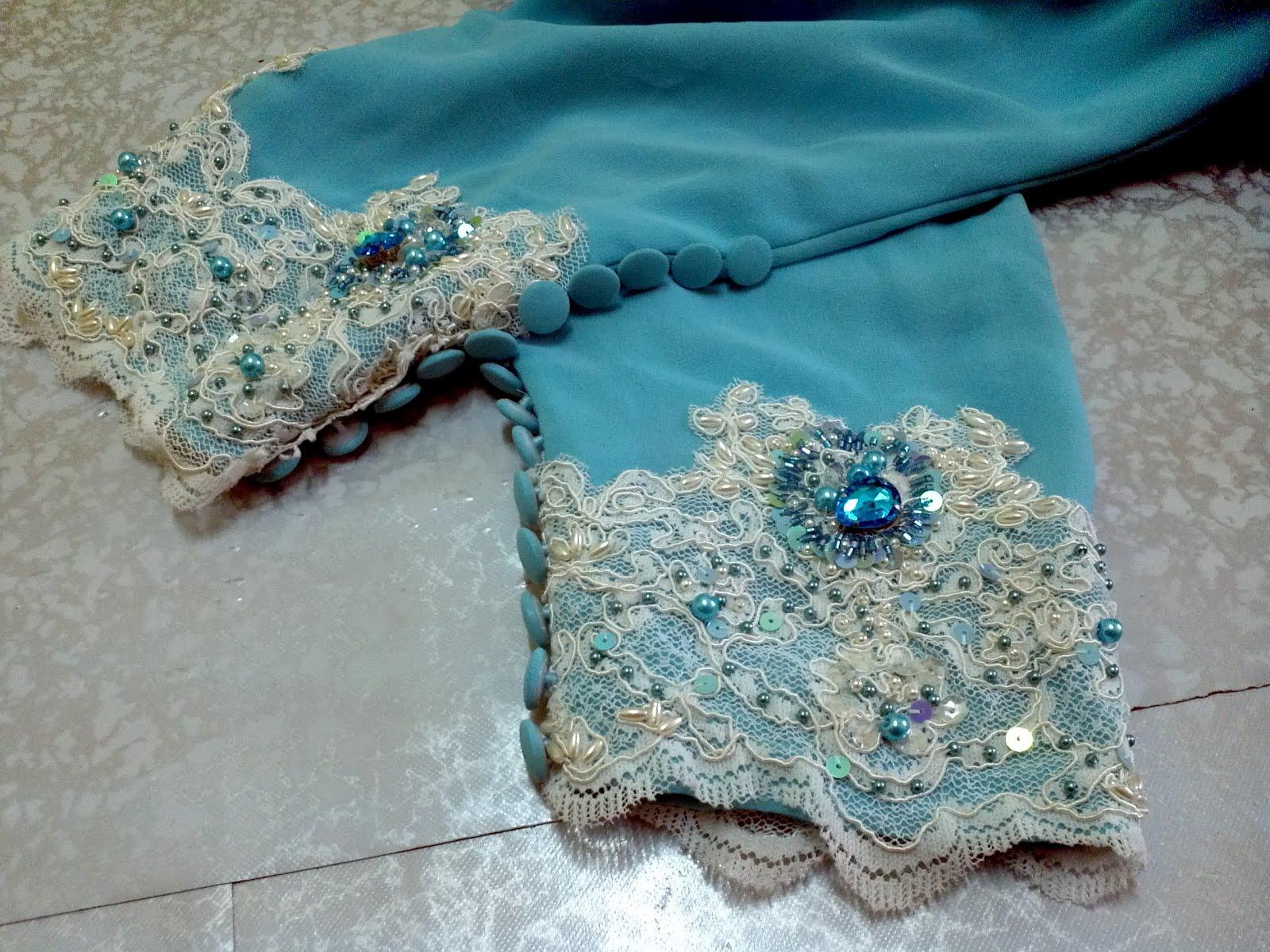 Jahitan MANIKqueen: lace putih jait manik pearl,swaroski,diamond