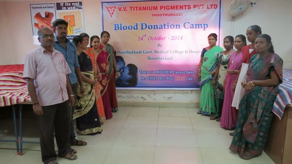 Blood Donation Camp, VV Mineral