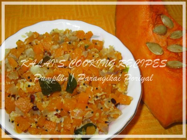 Pumpkin / Parangikai / Manjal Poosanikai Poriyal