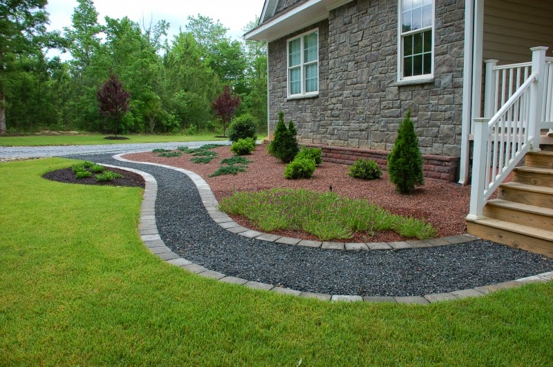 Home Exterior Ideas Crushed Stone Walkways With A Few New Bags Of