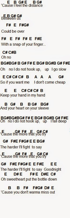 from Lionel song i do not hook up