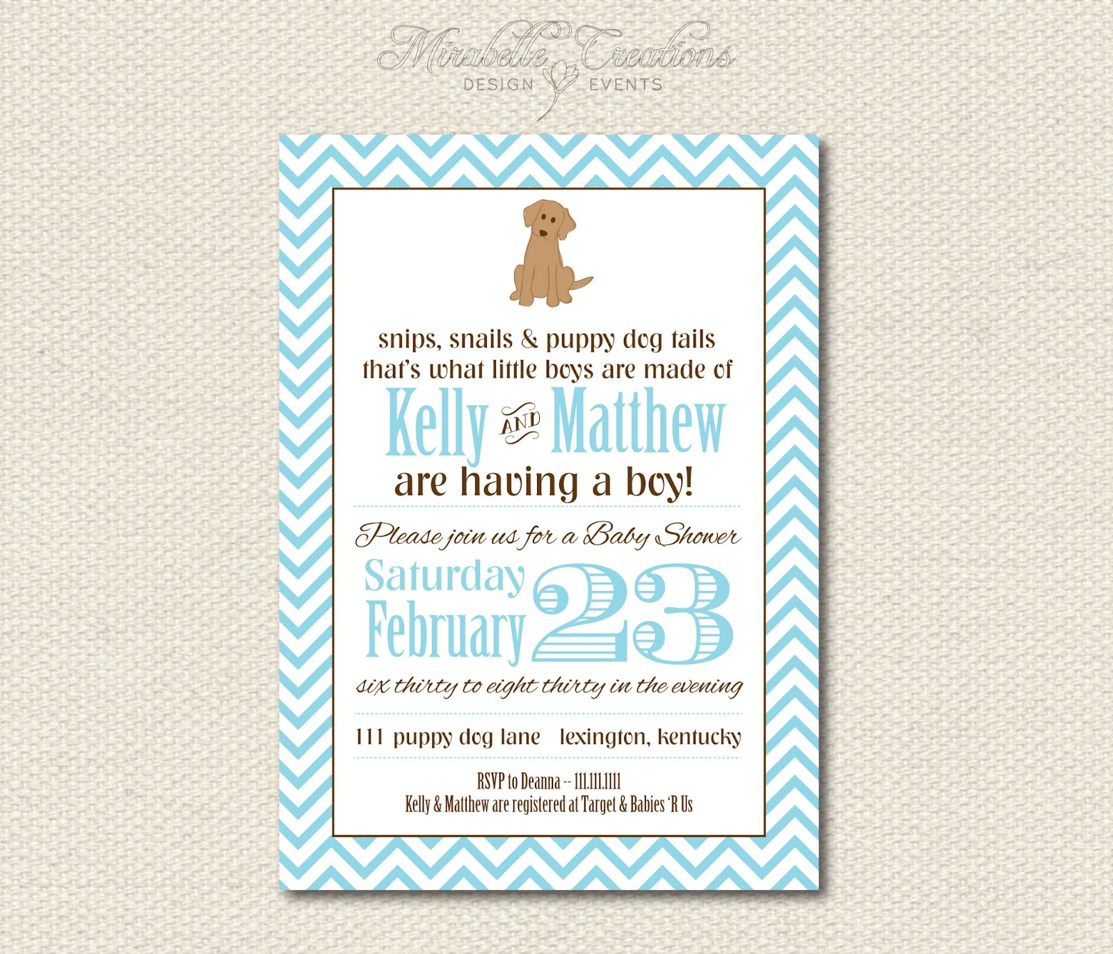 New to the Shop} Baby Shower Collections - Mirabelle Creations