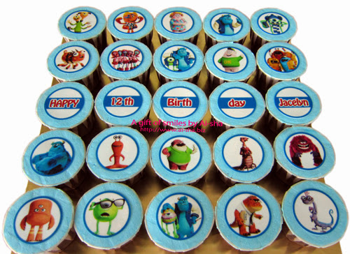 Birthday Cupcake Edible Image Monster University