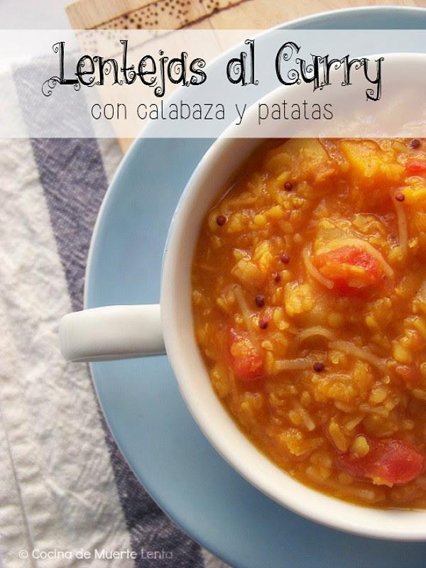Lentejas al Curry con Calabaza y Patatas